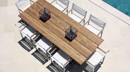 Nautique dining table and venice directors chair