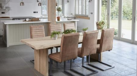 oak mill dining wooden legs