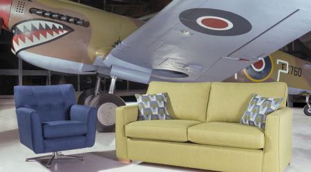 hawk sofa and swivel chair